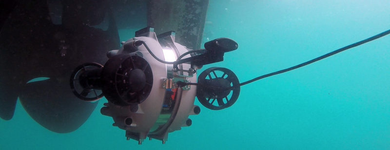 Underwater ROV Hull Inspection