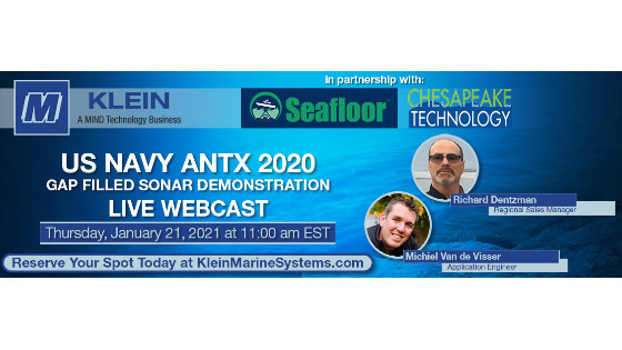 Klein Marine Gap Filled Sonar Demonstration - US Navy ANTX 2020