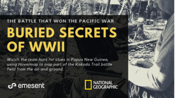 Emesent Hovermap Drone Lidar Uncovers Buried Secrets of WWII -  Battlefield in the Central Highlight Lands of Papua New Guinea.