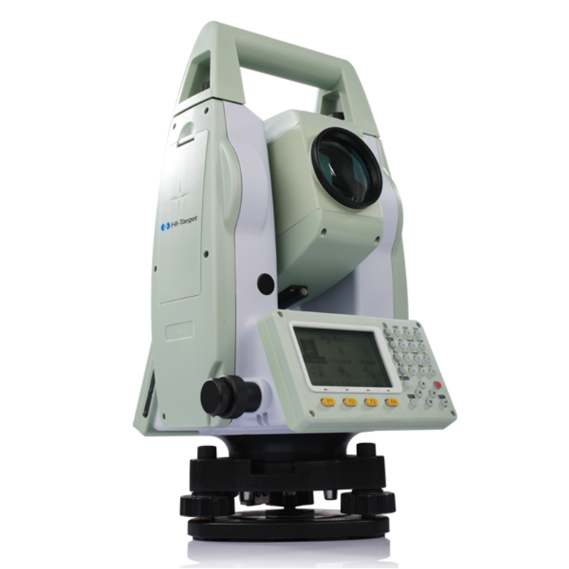 HTS-420R Total Station. Dual-axis reflectorless total station 2'' accuracy with 350m range Wireless bluetooth communication Big storage, can be extended up to 32GB Convenient data import and export with USB port.
