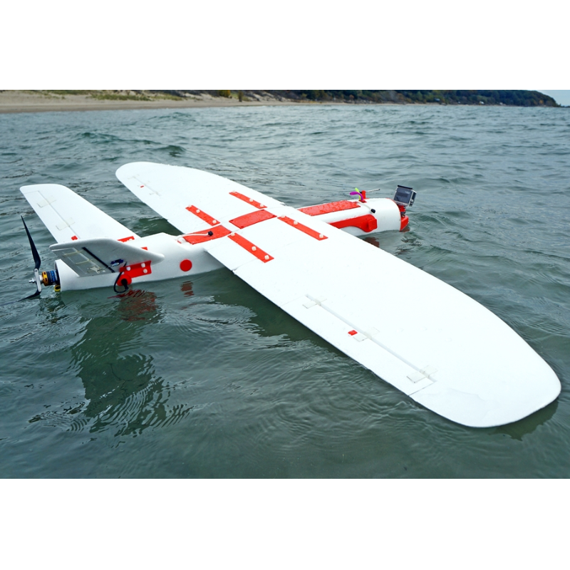 Aeromapper Talon amphibious fixed wing sUAS: mapping and surveillance applications in one machine