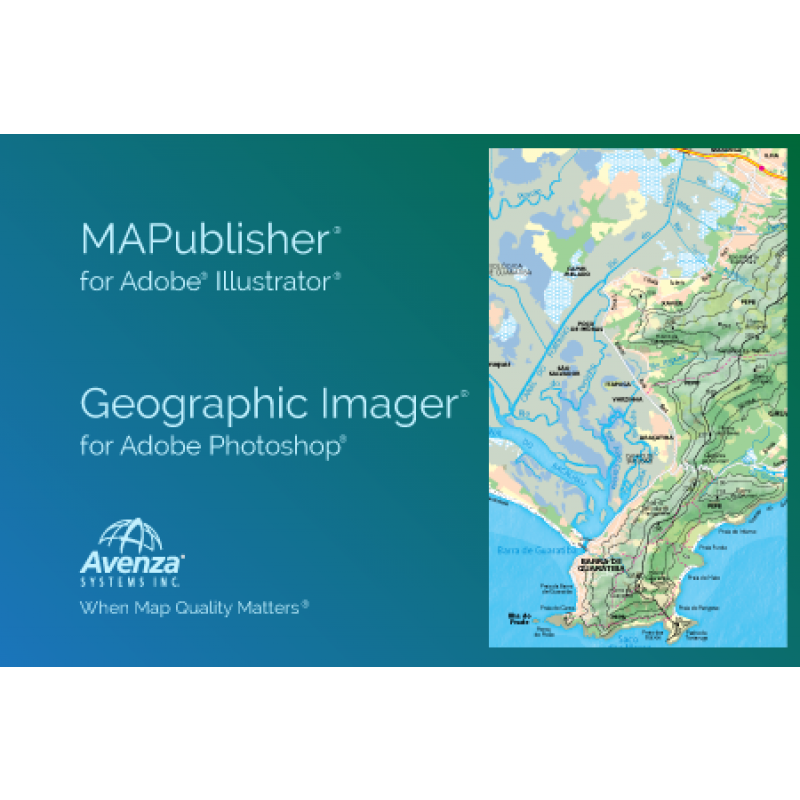 MAPublisher and Geographic Imager for Adobe CC