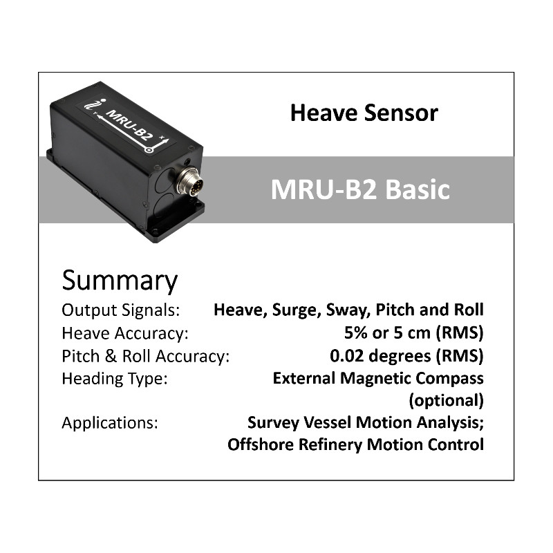 Inertial Labs MRU-B - Basic Motion Reference Units for high precision Heave, Pitch & Roll measurements