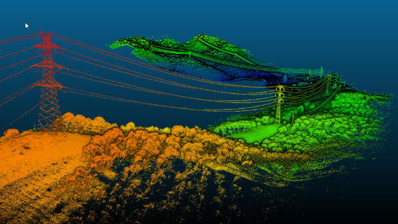 Power Line Corridor Mapping with UAV Lidar Solution
