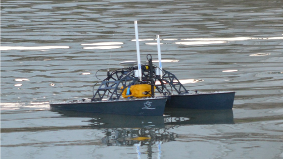 USV Bathymetric Survey of a Quarry Lake for Adventure Activity Company