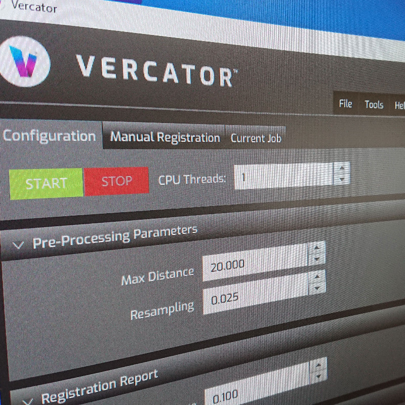 Vercator software facilitates the automatic registration of 3D point clouds