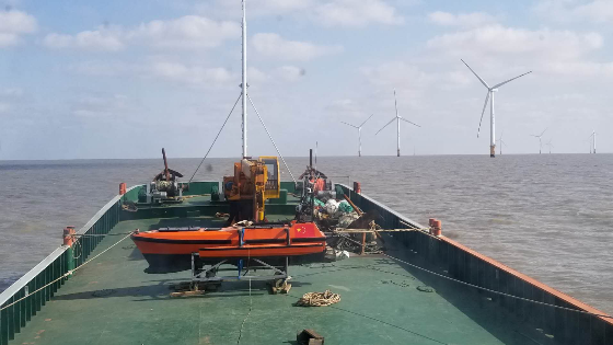 OceanAlpha USV Surveys Offshore Wind Farm Turbine Piles and Cable Scouring